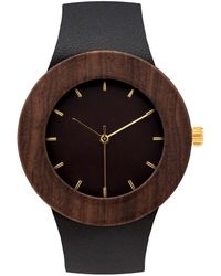 Analog Watch Co. - Leather & Blackwood With Hour Markings - Lyst