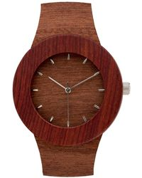 Analog Watch Co. - Makore & Red Sanders With Hour Markings - Lyst
