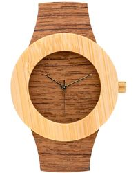 Analog Watch Co. - Teak & Bamboo Without Hour Markings - Lyst
