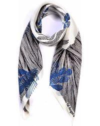 Tal Angel - The Blue Line Fish Silk Scarf - Lyst