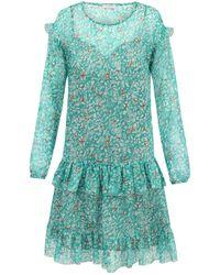 Ju Lovi - Monterey Silk Dress Turquoise - Lyst