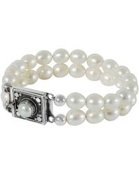 Juvi Designs - Pearl Bracelet With Sterling Silver Clasp - Lyst