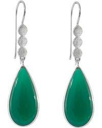 Juvi Designs - Boho Silver Three Little Disk Earrings - Lyst