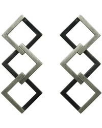 Helen Rankin - Geom Regular Earrings Oxidised - Lyst