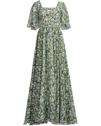 MATSOUR'I | Mirabelle Silk Dress With Detachable Sleeves | Lyst