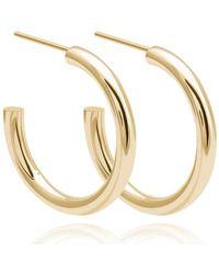 Astrid & Miyu - Basic Large Hoop Earrings In Gold - Lyst