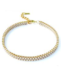 Clare Hynes Jewellery - Milly Choker Gold Plain - Lyst