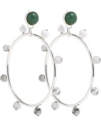 A. Carnevale - Riff Hoops Silver Green & White - Lyst