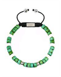 Clariste Jewelry - Men's Ceramic Bead Bracelet Green & White - Lyst