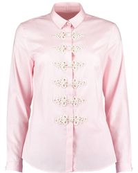 Sachini - Pink Shirt With Military Details Elizabeth - Lyst