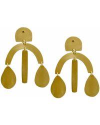 Ricardo Rodriguez Design - Brass Chandelier Earrings - Lyst