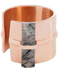 Tada & Toy - Earth Runner Ring Rose Gold - Lyst