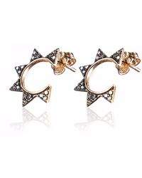 Sadekar Jewellery - Gear Single Earring Rose Gold - Lyst
