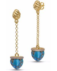 LMJ - Glory Of The Sun Sling Earrings - Lyst