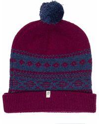 40 Colori - Magenta-grey Blue Norwegian Wool & Cashmere Beanie - Lyst