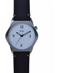 Finn Watches - The Causeway White With Black Strap - Lyst