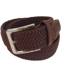 Tyler And Tyler - Woven Belt Brown - Lyst