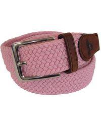 Tyler And Tyler - Woven Belt Pink - Lyst