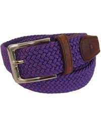 Tyler And Tyler - Woven Belt Purple - Lyst