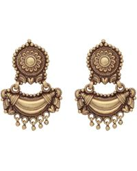 Carousel Jewels - Antique Finish Heritage Earrings - Lyst