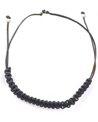 Myriamsos - Friendship Bracelet Black - Lyst