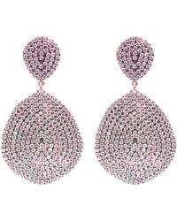 Latelita London Monte Carlo Earring Rose Gold Amethyst Zircon mTOP5iGr6t