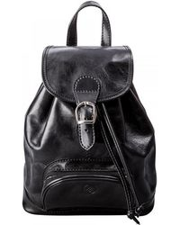 Maxwell Scott Bags - Luxury Italian Leather Women's Rucksack Sparano Black - Lyst