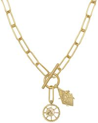 Wanderlust + Co - Bee Gold Xl Toggle Necklace - Lyst