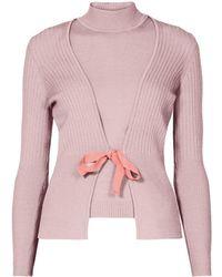 Rumour London - Erika And Erin Powder Pink Two-piece Merino Wool Set - Lyst