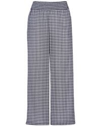 Acephala - Loose Fit Gingham Trousers - Lyst