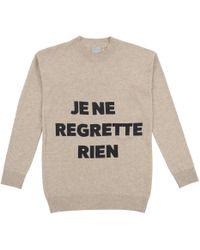 Orwell + Austen Cashmere - Je Ne Regrette Sweater Oatmeal & Black - Lyst