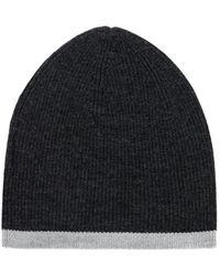 Hot ILLE DE COCOS - Merino Beanie Hat Black Marl   Silver - Lyst 412ceaab7ba9