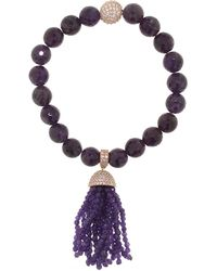 Cosanuova - Amethyst Tassel Bracelet - Lyst
