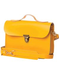 N'damus London - Small Trilogy Yellow Leather Rucksack & Satchel - Lyst