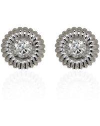Ri Noor - Round Diamond Solitaire Earrings - Lyst