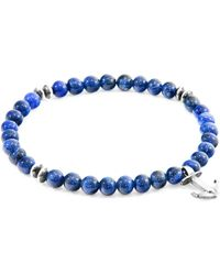 Anchor & Crew - Blue Sodalite Starboard Silver & Stone Bracelet - Lyst
