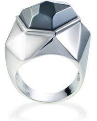 Ona Chan Jewelry - Lattice Cocktail Ring Hematite - Lyst