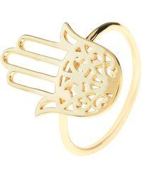 LÁTELITA London - Cosmic Hamsa Ring Gold - Lyst