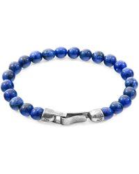 Anchor & Crew Silver & Blue Sodalite Stone Outrigger Bracelet
