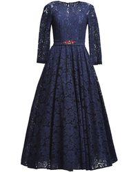 MATSOUR'I - Lace Dress Viktoria Blue - Lyst