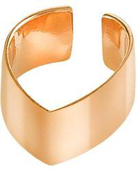 Dutch Basics - Gold Plated Point Ear Cuff - Lyst