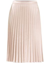 Paisie - Pleated Skirt In Champagne - Lyst