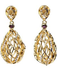Bellus Domina - Hive Gold Earrings - Lyst