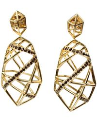 Bellus Domina - Hexa Smoky Quartz Earrings - Lyst