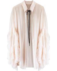 Florence Bridge - Caia Ruffle Shirt Peach - Lyst
