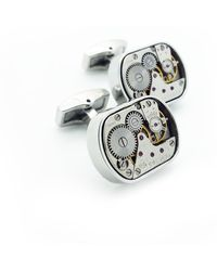 LC COLLECTION - Vintage Watch Movement Cufflinks Plated Rhodium - Lyst