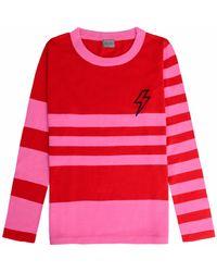 Orwell + Austen Cashmere - Baby Bowie Stripe Pink & Red - Lyst