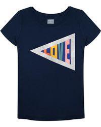 Orwell + Austen Cashmere - Love T-shirt Navy - Lyst