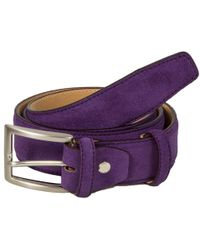 40 Colori - Purple Trento Leather Belt - Lyst