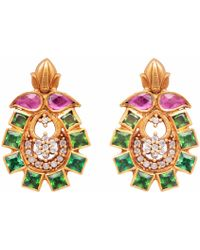 Carousel Jewels | Intricate Dyed Crystal Earrings | Lyst
